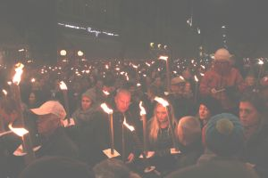 Thousands of people in Copenhagen remembered victims of the Paris terror attack. Photo: Annette Birch.